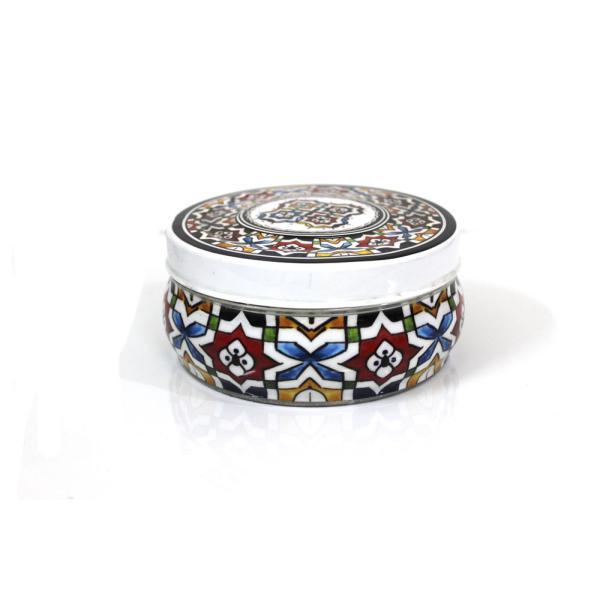 طقم علبة تمر نقش مغربي تراثي مطبق تمر